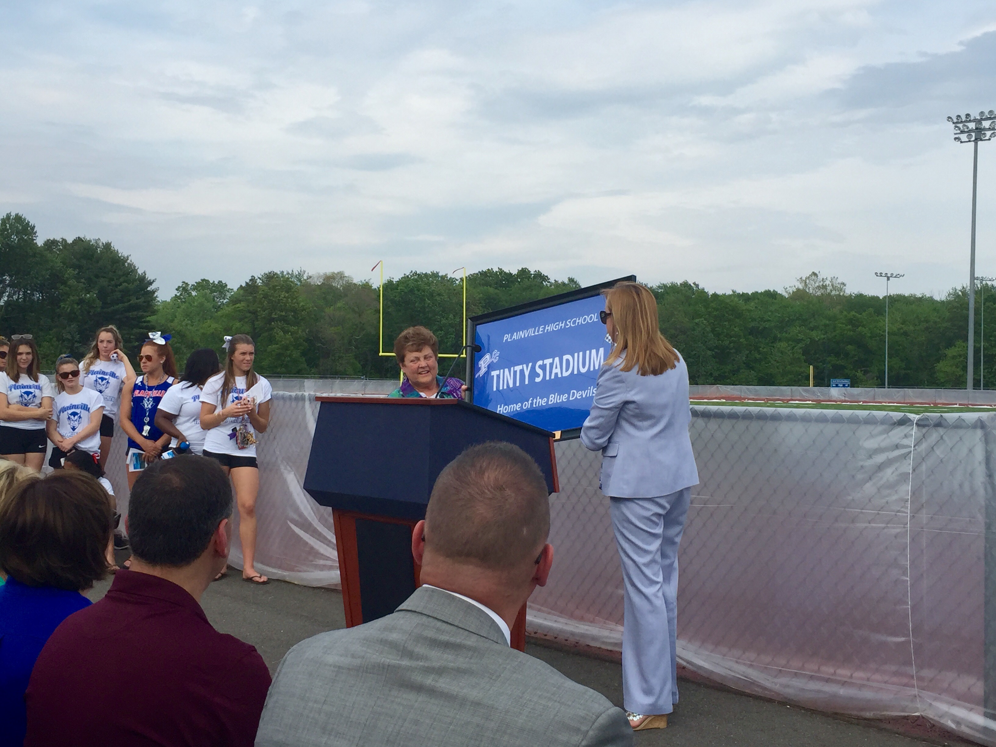 The official opening of the PHS turf field in June 2016. The track was finished shortly after. | Ashley Kus, The Plainville Citizen