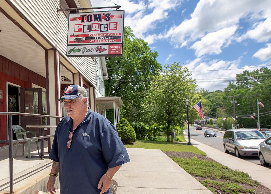"Longtime city resident Renato ""Ray"" Maratea heads out of Toms Place in South Meriden, Fri., May 24, 2019. Maratea is the grand marshal of this year's Memorial Day parade. Dave Zajac, Record-Journal"