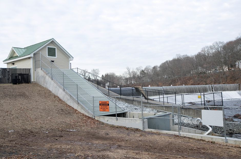 The Archimedes screw at Hanover Dam in Meriden, Tuesday, Feb. 6, 2018. Dave Zajac, Record-Journal