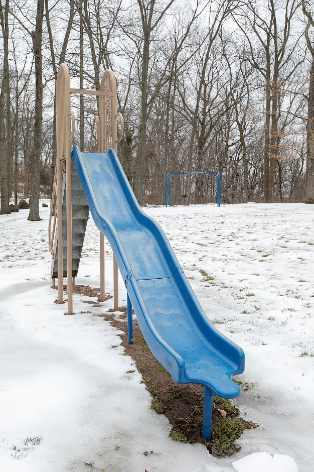 A slide at Lufbery Park on Cheshire road in Wallingford, Fri, Feb. 15, 2019. The Recreation Commission is considering a redesign of Lufbery Park. Dave Zajac, Record-Journal