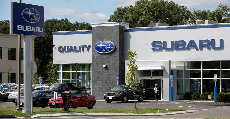 Quality Subaru on Route 5 in Wallingford, Wed., Sept. 18, 2019. The Planning and Zoning Commission approved a special permit for Quality Subaru to use nearby parcels on Route 5 for vehicle storage. Dave Zajac, Record-Journal