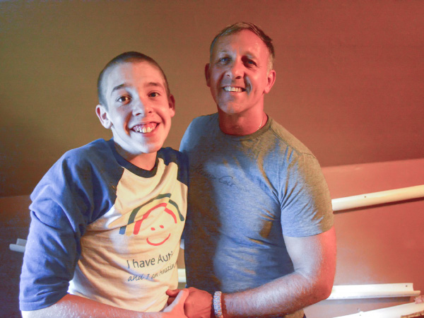 FILE PHOTO: Logan (L.) and William Gibbons on Wednesday, Aug. 31. | Bryan Lipiner, Record-Journal