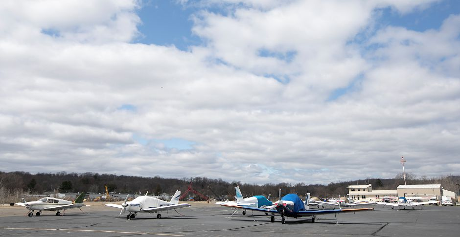 Aircraft parked at Meriden Markham Airport, Wednesday, April 18, 2018. Dave Zajac, Record-Journal
