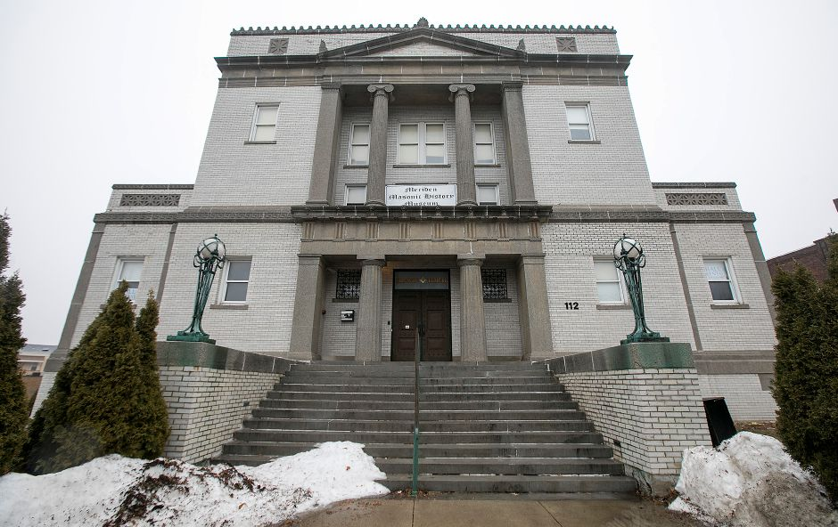 The Meriden Masonic Temple at 112 E. Main St. in Meriden, Friday, Jan. 12, 2018. The building recently sold to an out-of-state investor. Dave Zajac, Record-Journal