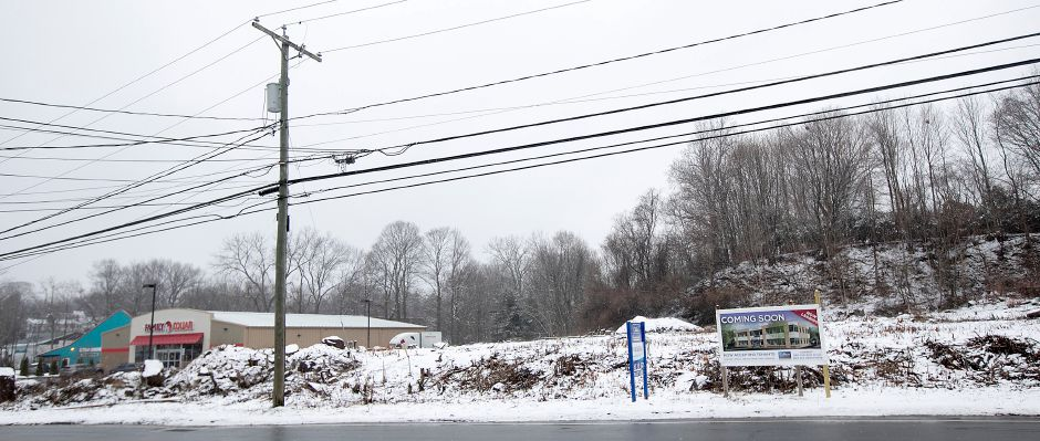 Land at 1336 E. Main St. in Meriden, Wednesday, Jan. 17, 2018. A Rockfall developer won Planning Commission approval to build a two-story office building on the vacant lot located next to the Family Dollar store. Dave Zajac, Record-Journal