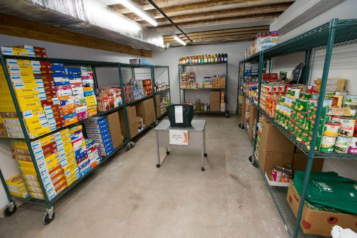 The basement provides Bread for Life with an estimated 1,000 square feet of dry and cold storage Sunday during an open house for the new Bread for Life building in Southington Feb. 12, 2017 | Justin Weekes / For the Record-Journal