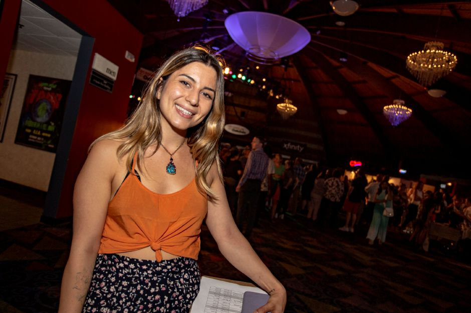 Paulina Nersesian, Artist Experience Director with RAW: natural born artists, smiles during a brief break at the RAW Artist Connect showcase at the Oakdale Theatre in Wallingford July 18, 2018. | Richie Rathsack, Record-Journal
