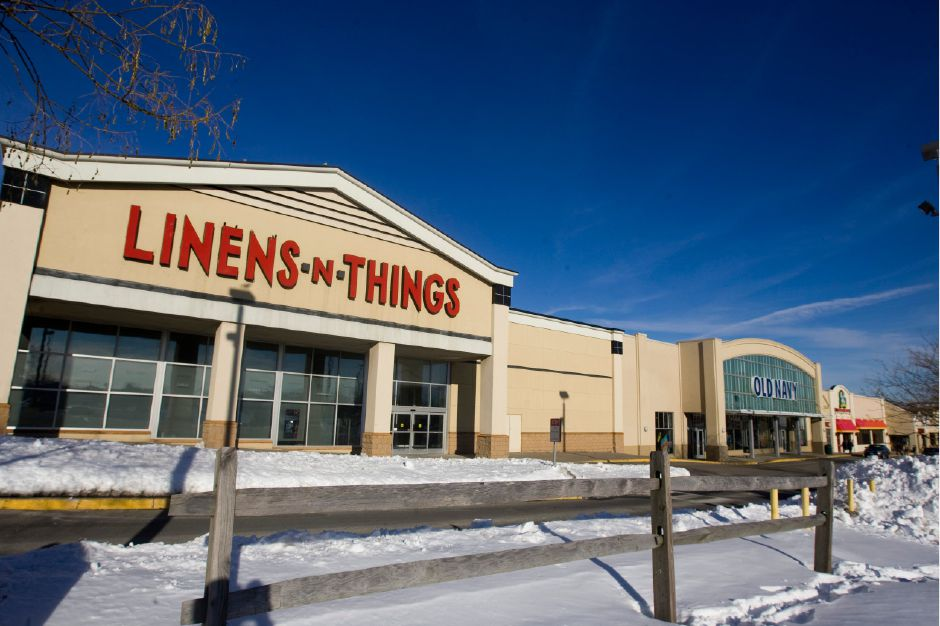 Old Navy, at right, will be moving out of the Townline Square and into a space at Westfield Mall in the near future. Linens-n-Things closed in 2008. (Christopher Zajac/Record-Journal)