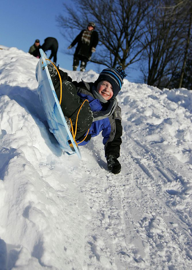 Panthorn Park ranks seventh on TripAdvisor.com's list of things to do in Southington. In this file photo, Logan Ayers, 4 of Southington sleds down the hill at Panthorn Park in Southington as his mom Heather Ayers watches on Thursday January 13, 2011. (Matt Andrew/ Record-Journal)