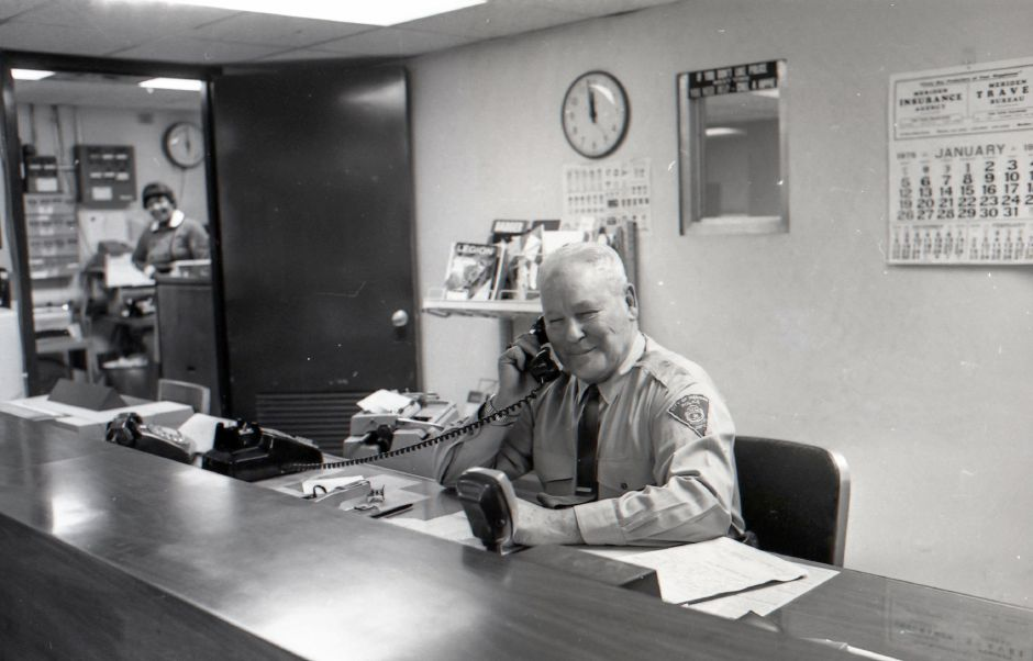 Tony Cirillo retires from the Meriden Police Department - 1974.