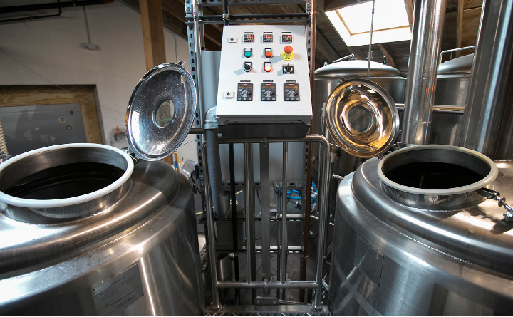 Tanks and controls at Kinsmen Brewing Co., a family-owned and operated brewery at 409 Canal St. in Southington, Wednesday, April 26, 2017.  | Dave Zajac, Record-Journal