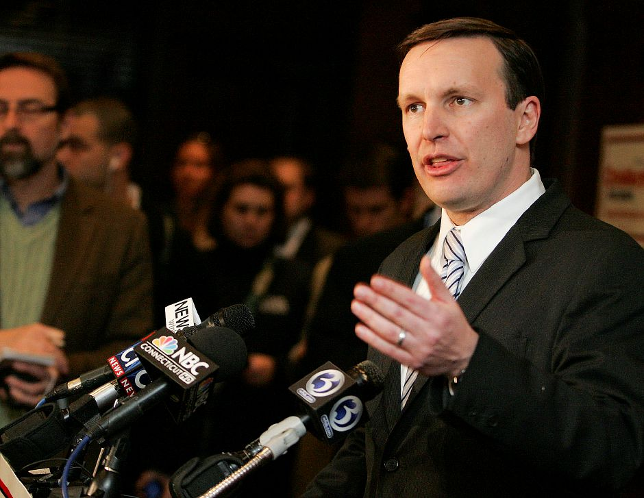 U.S. Representative Chris Murphy announced at Waverly Tavern in Cheshire on Thursday January 20, 2011 that he will be running for U.S. Senate in the 2012 election. (Matt Andrew/ Record-Journal)