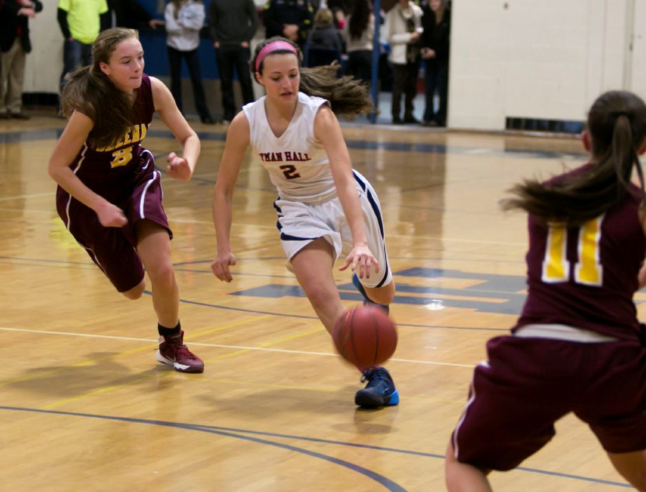 Sheehan at Lyman Hall girls basketball, Feb. 7, 2014 | Christopher Zajac / Record-Journal