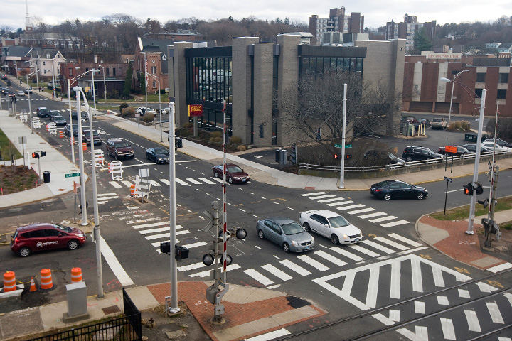View of the intersection of State Street and East Main Street in downtown Meriden, Friday, December 2, 2016.  | Dave Zajac, Record-Journal