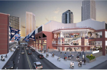 Artist rendering of the outside of the XL Center.  | Courtesy of the Capital Region Development Authority
