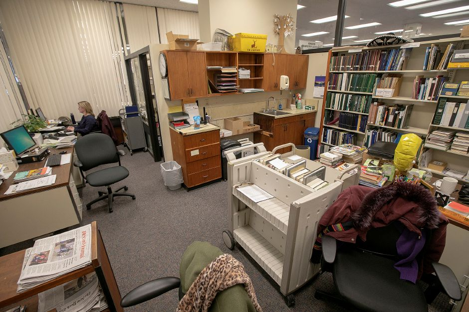 The reference office at the Meriden Public Library, Tues., Feb. 26, 2019. Dave Zajac, Record-Journal