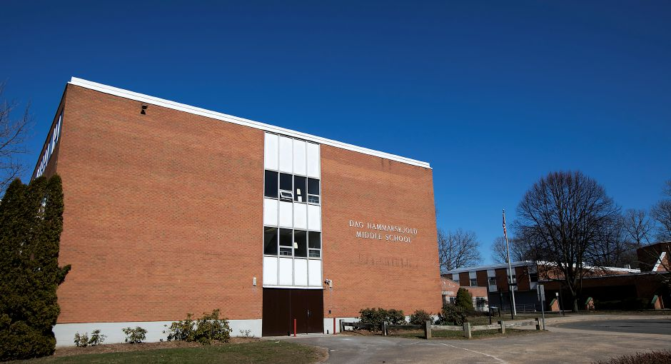 Dag Hammarskjold Middle School in Wallingford, Monday afternoon, Monday, March 26, 2018. Dave Zajac, Record-Journal