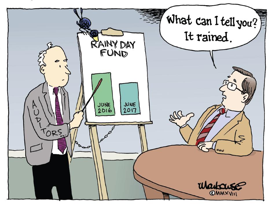 Wallingford Cartoon It Rained