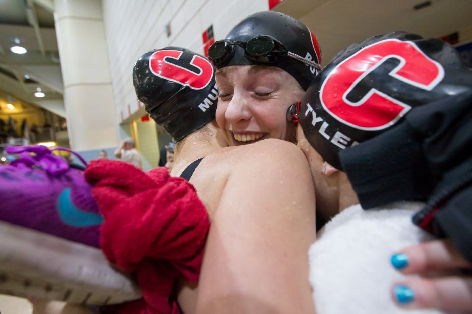 Led by Sophie Murphy, Liz Boyer and Ali Tyler, the Cheshire girls swimming team will have 14 individual swimmers and all three of its relay teams represented at Saturday's State Open at Yale. Justin Weekes, Special to the Record-Journal