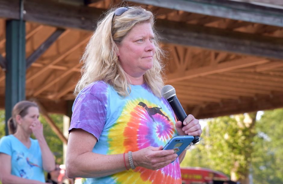 Michelle Bjorkman, Wallingford Parks and Recreation Superintendent, announces the department's annual Skyhoundz competition.