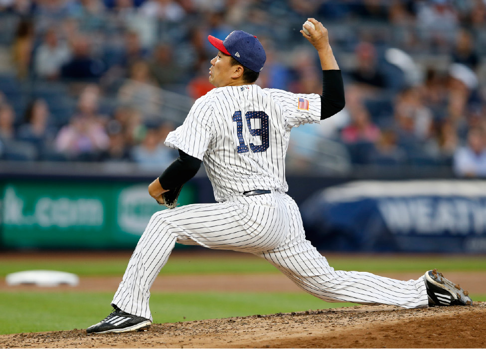 67a9f4f97 Sabathia stumbles in his DL return  Blue Jays top Yanks 4-1. New York  Yankees starting pitcher Masahiro Tanaka (19) winds up during the fourth  inning