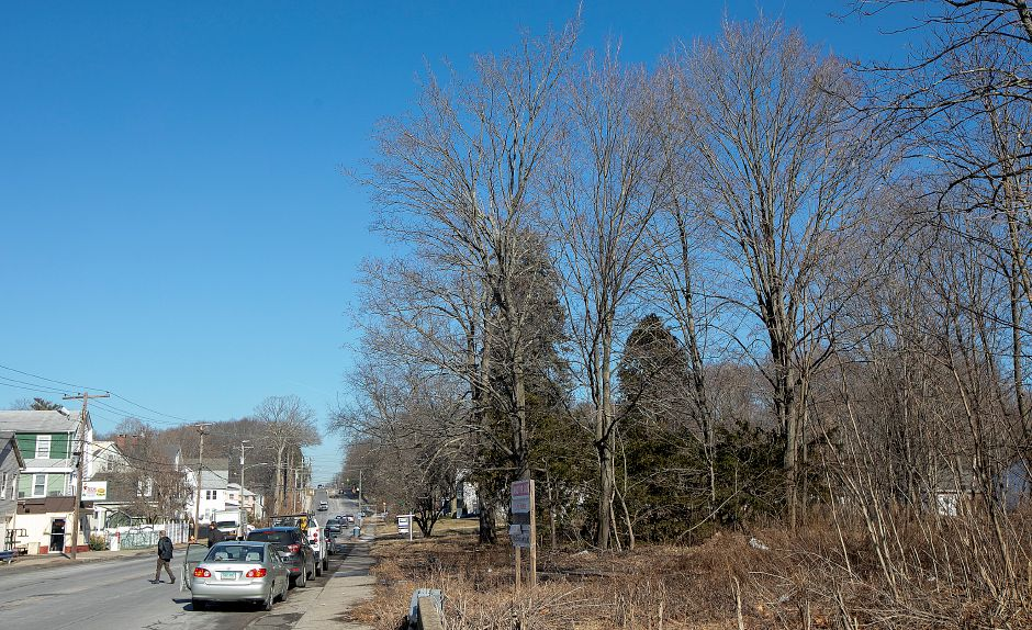 A parcel of land, right, proposed for a car wash at 1025 N. Broad St., across from Ted's Steamed Cheeseburgers in Meriden, Mon. Feb. 4, 2019. Dave Zajac, Record-Journal