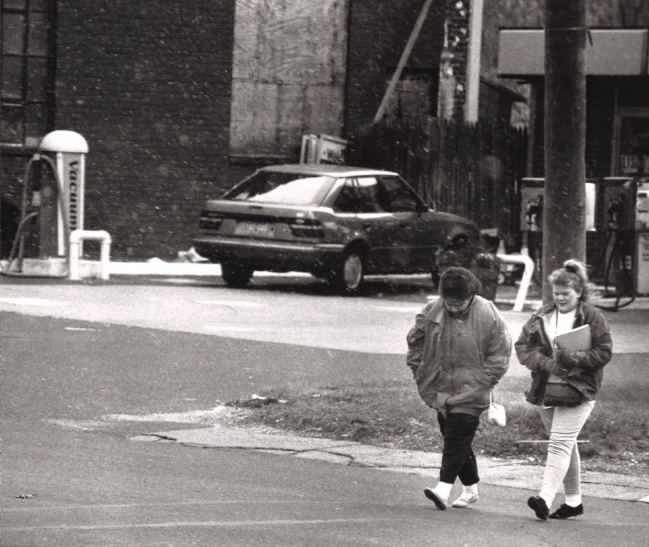 West Main Street near Chamberlain Highway in Meriden. 1989.