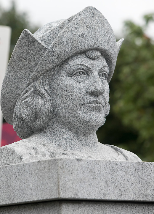 A Christopher Columbus monument unveiled at Southington