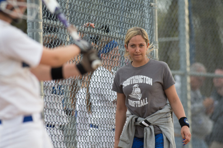 Coach Davina Hernandez and her Southington softball team fell to 11-2 with Tuesday