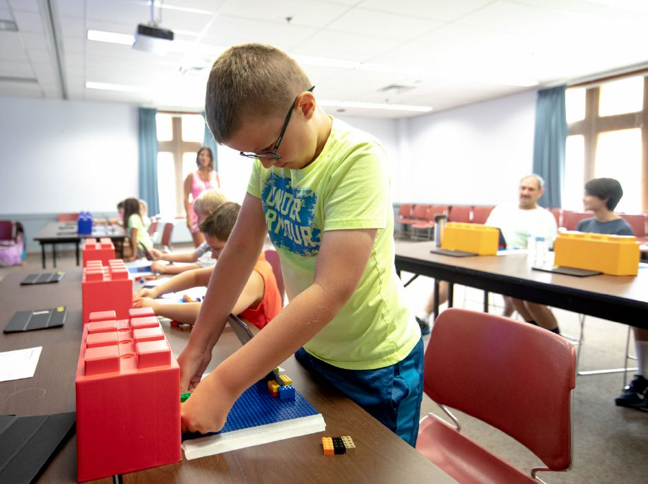 Children were able to create their own stop motion movies at the Berlin-Peck Memorial Library on Thursday, July 26. | Devin Leith-Yessian/Berlin Citizen