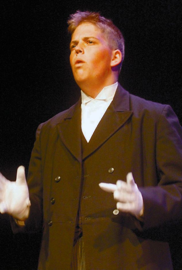 "RJ file photo - Michael Miller as Anton Chekov in ""The Good Doctor"" at Lyman Hall, May 1999."