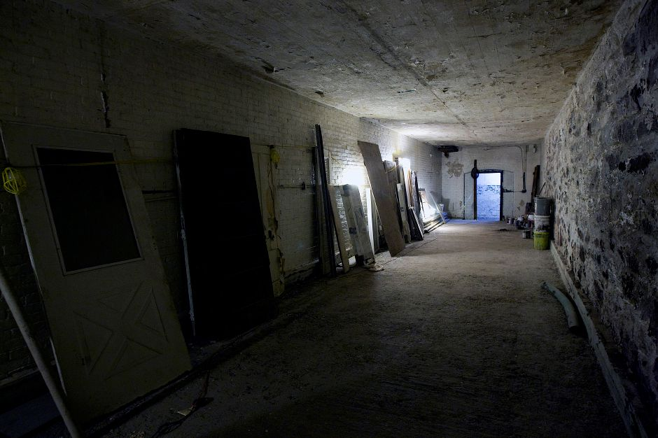 A long room in the basement of the former armory at 241 E. Main St. in Meriden, Thursday, January 26, 2017. Extensive repairs and environmental cleanup have rehabilitated the once blighted building. Wayne Barneschi, founder of the Trail of Terror in Wallingford, is turning the 1908 building into the 'Armory of Darkness' and hopes to open in time for the Halloween season. | Dave Zajac, Record-Journal