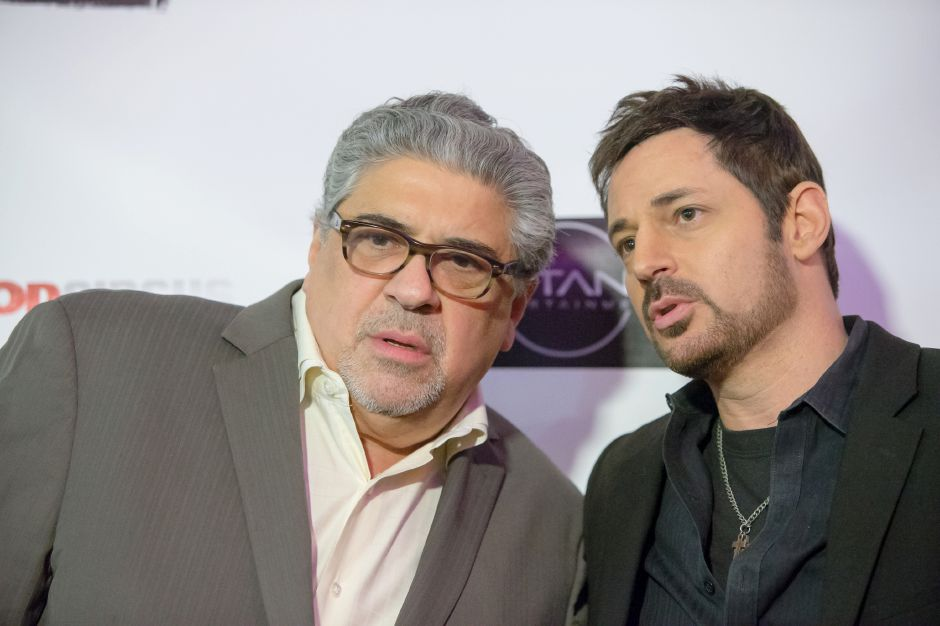 Actor Vincent Pastore and producer David Gere talk Thursday at Holiday Cinemas in Wallingford.