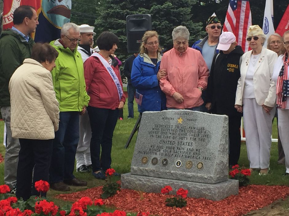 The new Gold Star monument was revealed in Veterans Park after the annual Memorial Day Parade. |Ashley Kus, The Citizen
