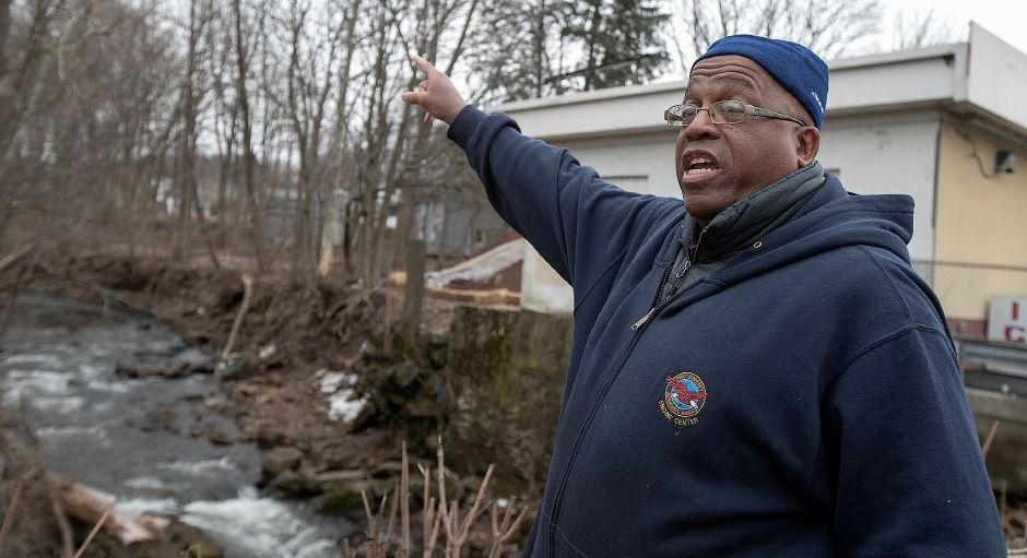 Twiss Avenue resident Kevin Dossilva voices concern over the proposal for a car wash on Broad Street next to Harbor Brook in Meriden, Fri., Mar. 15, 2019. Dave Zajac, Record-Journal