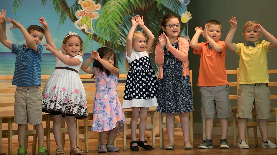 Plantsville Community Nursery School students dance during the 63rd graduation on Wednesday. The school is closing this year.
