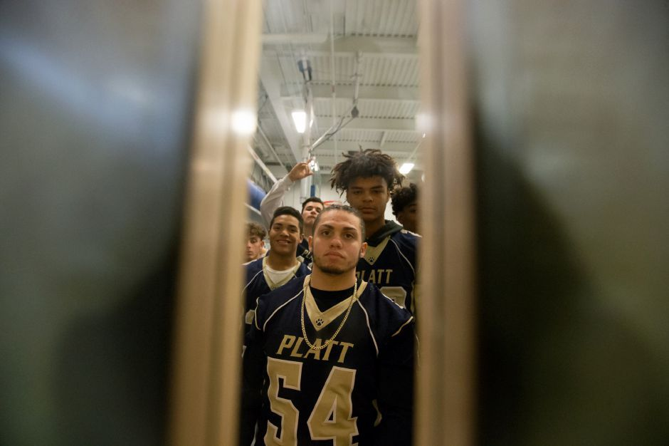 Wednesday during the Platt Pep Rally at Platt High School in Meriden November 22, 2017 | Justin Weekes / For the Record-Journal