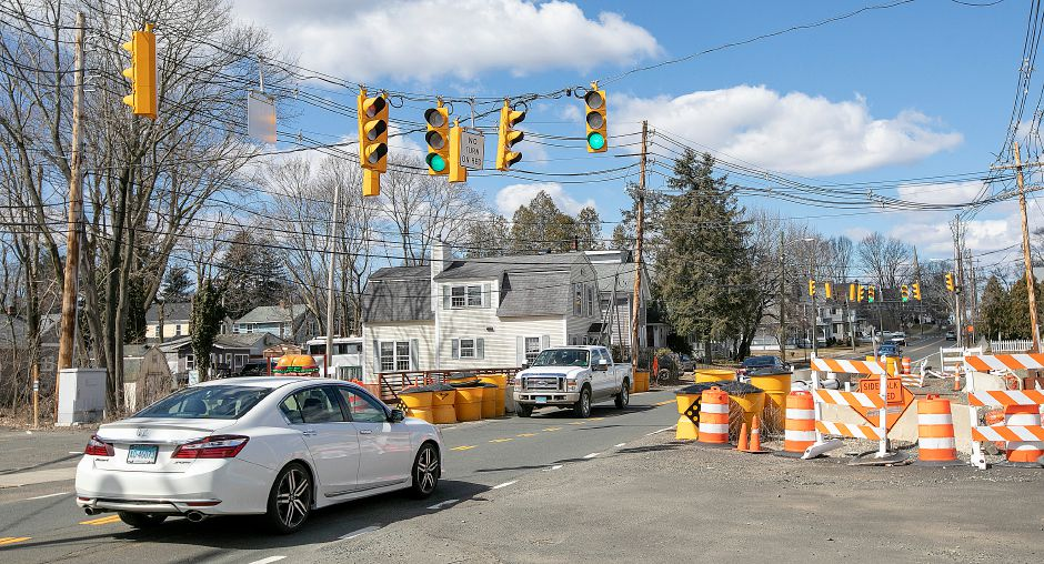 The East Center Street bridge construction project in Wallingford. Dave Zajac, Record-Journal