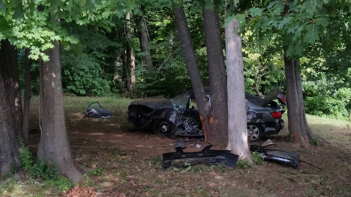 FILE PHOTO: Aftermath of Maple Avenue crash, Aug. 19,2016. | Record-Journal staff