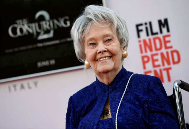 "FILE - In this June 7, 2016, file photo, paranormal investigator and film consultant Lorraine Warren poses at the premiere of the film ""The Conjuring 2"" during the Los Angeles Film Festival at the TCL Chinese Theatre in Los Angeles. Warren, whose decades of ghost-hunting cases alongside her late husband were the inspiration for films such as ""The Conjuring"" and ""The Amityville Horror,"" died Thursday night, April 18, 2019, at her Connecticut home. She was 92. (Photo by Chris..."