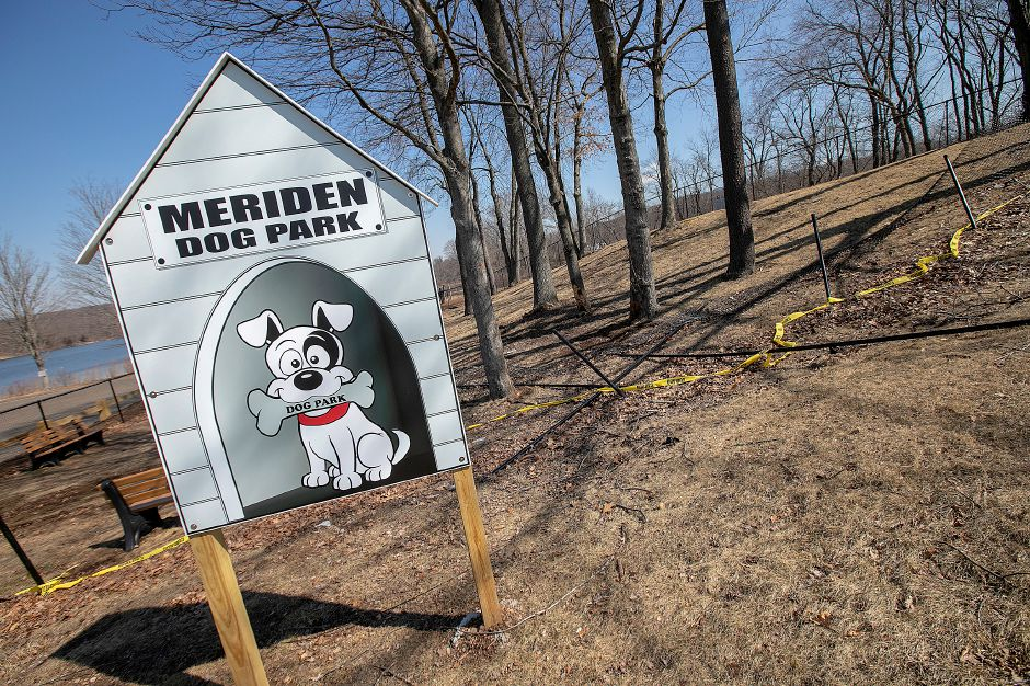 Damage was done  to fencing around the small dog area of the Meriden Dog Park at Beaver Pond in Meriden, seen here on Wednesday. Dave Zajac, Record-Journal