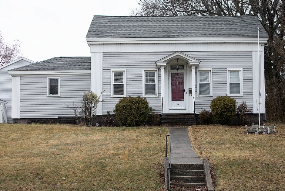 A house built in 1850 at 60 Broad Street in Meriden, Fri., Mar. 22, 2019. A Harwinton developer won Planning Commission approval last week to build a retail building at 60 and 66 Broad St. Dave Zajac, Record-Journal