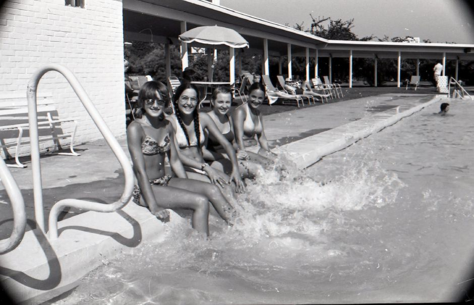 Meriden-Wallingford Hospital Candy Striper Splash Party, August 1975.