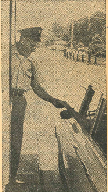 Toll collector, Albert James in 1962. | Record-Journal archives