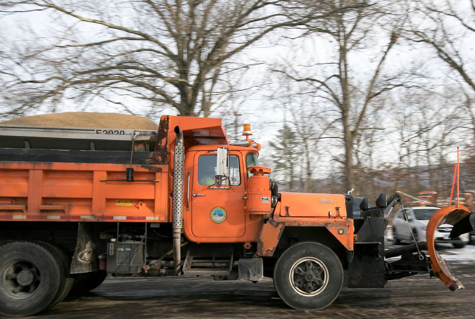 One of several snowplows heads out on the road as Southington town crews prepare for a winter storm that could bring up to 10 inches of snow to the area, Wednesday, Jan. 3, 2018. Dave Zajac, Record-Journal