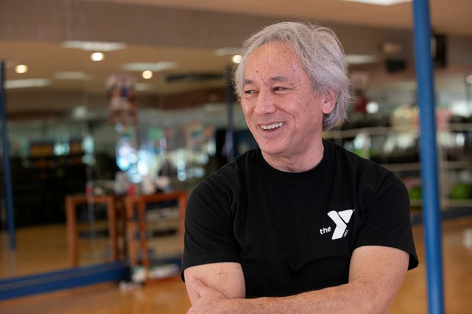 Tai Chi instructor George Donahue talks at the Wallingford YMCA, Fri., Jan. 25, 2019. Dave Zajac, Record-Journal