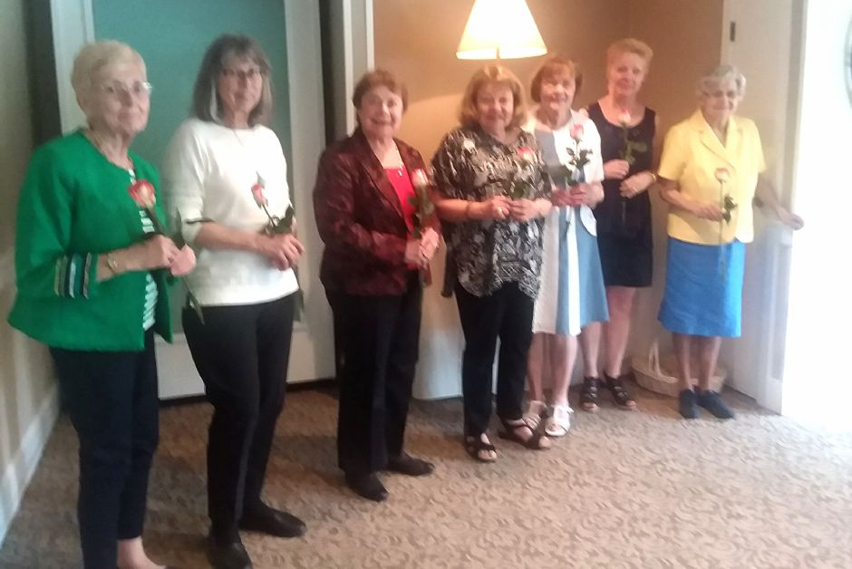 Jane Richards, Scholarship, Karen Hamm, Publicity, Delores Barker, Program, Paulette Bush, Barbara Nierenburg, Membership, Eleanor Ratchelous, Community Affairs and Shelia McReavy, Hospitality. Missing from hospitality are Rita Malone and Pat McKelvey.