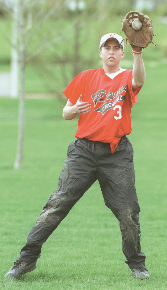 RJ file photo - Ryan Farley of Cheshire is recovering from cancer and is back playing baseball for CHS, May 1999.