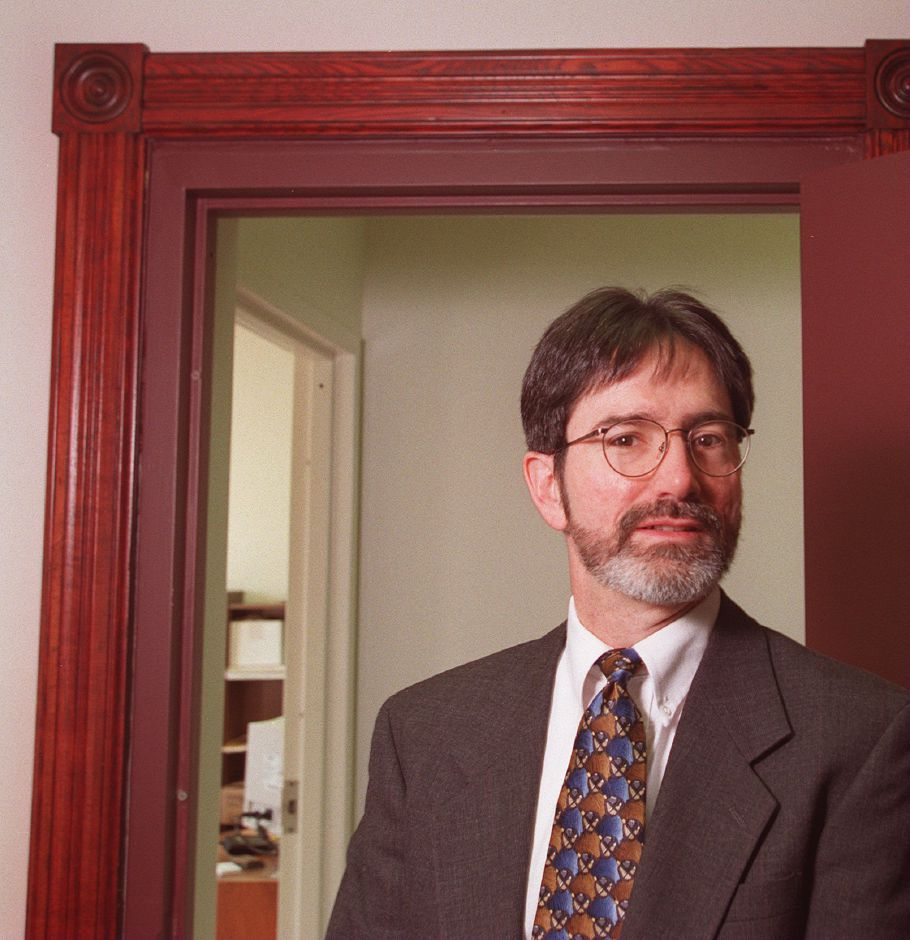 RJ file photo - Sean W. Moore, a Meriden native with deep roots in the city, took over as president of the Meriden Chamber of Commerce, Jan. 1999.