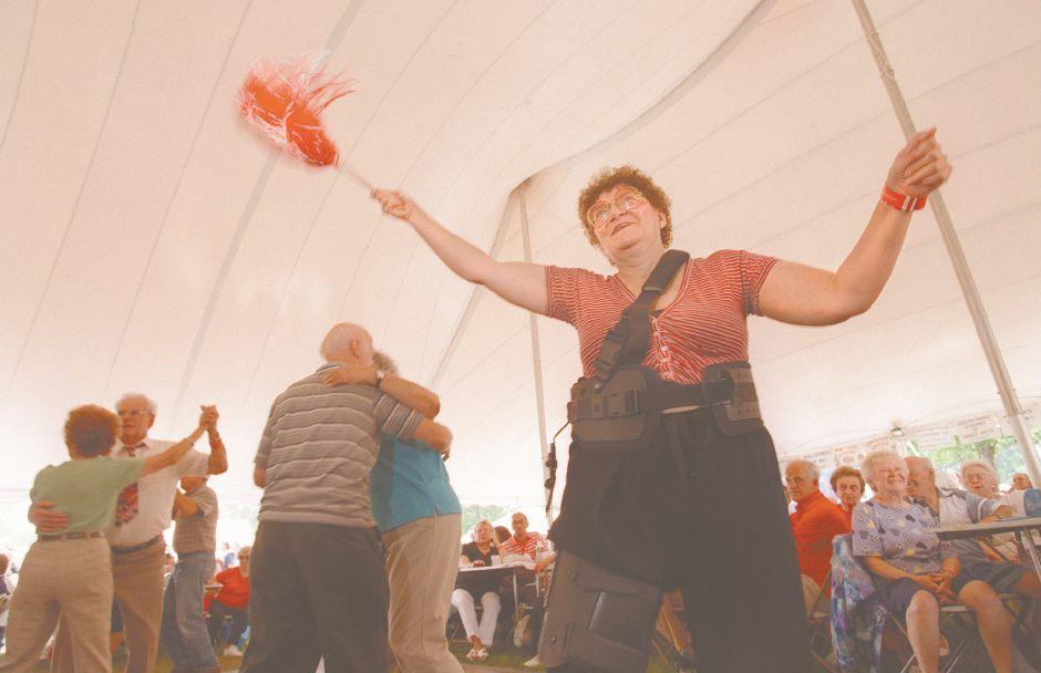 RJ file photo - Barbara Nowacki shows her Polish pride as couples dance to the music of the Jan Lewan Polish Band at Polka Fest